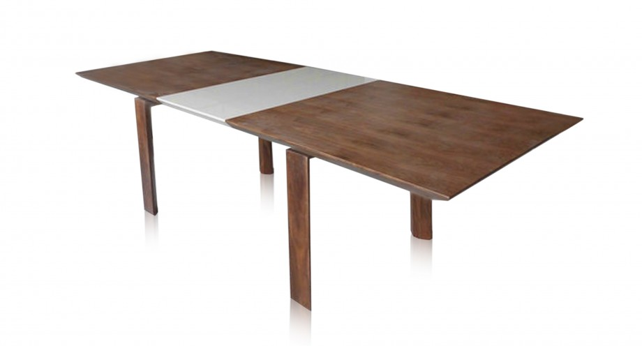 MILVIA Extendable Dining Table In Walnut Miotto Design