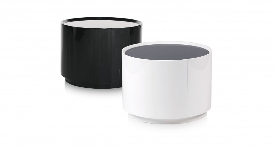 black and white furnitrue, side tables with drawer