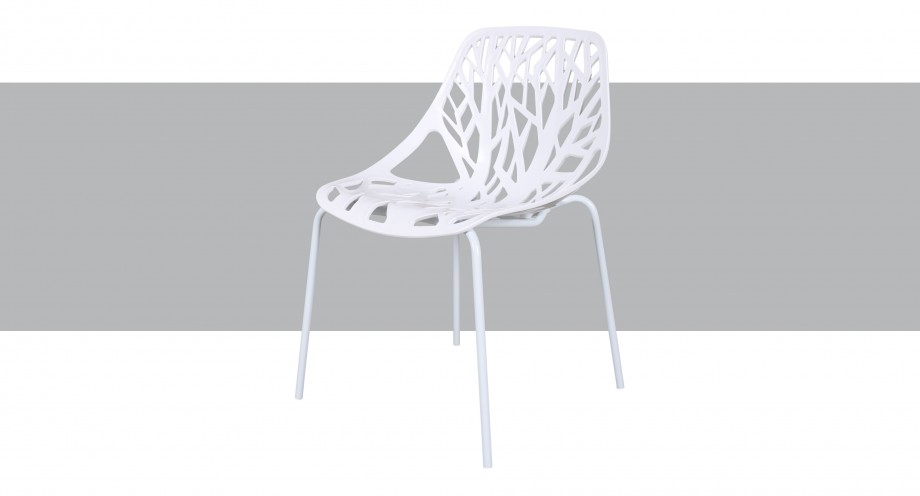 furio dchr white T dining chair miotto