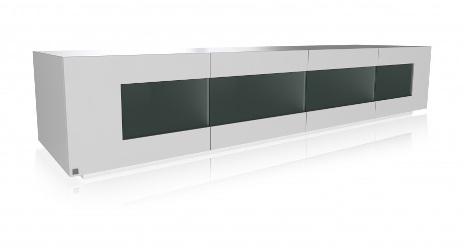 soriano grande TV white unit with glass, miotto de