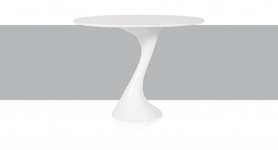 susa round dining table white