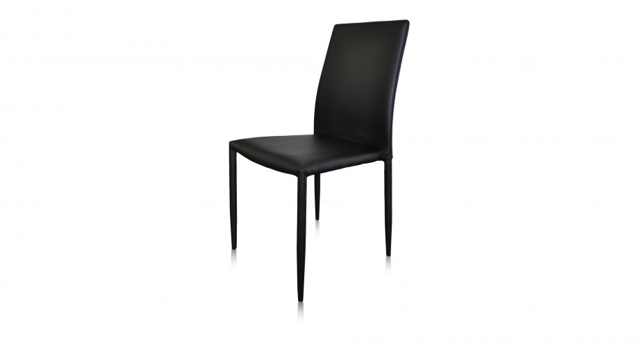 Lara dining chair pu black front miotto furni