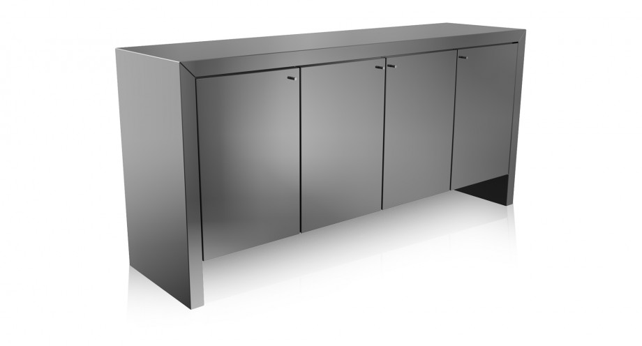 Losa buffet grey mirror miotto living furniture