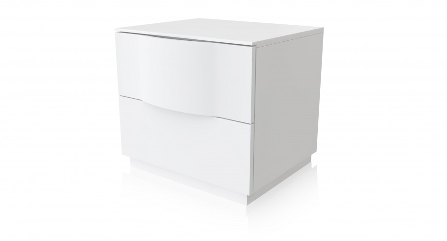 rossia night stand, bedside white, miotto furnitur