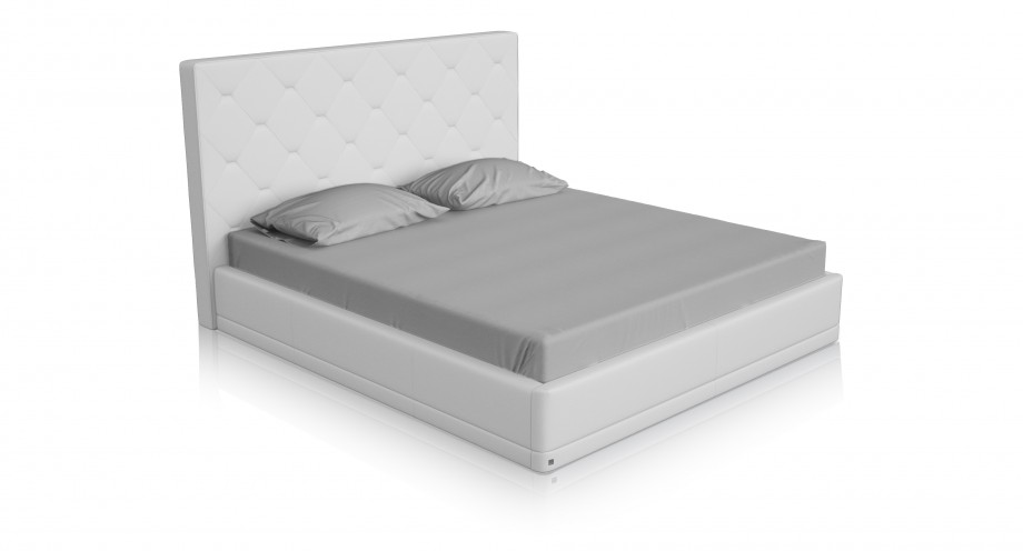 piana white leather bed T miottto design furniture