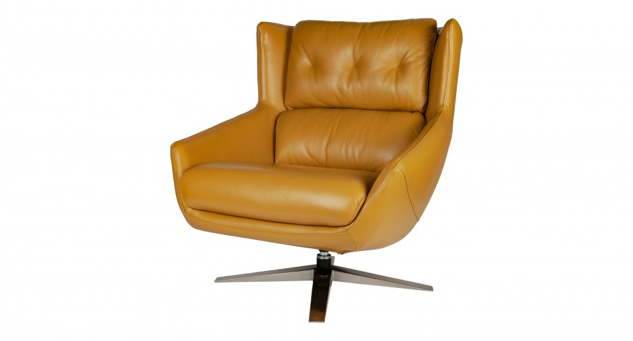 Vittorio leisure chair front miotto design lounge