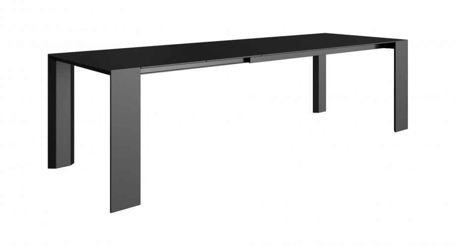 Soriano XL dining table black side 2 miotto design
