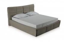valle taupe lether bed T miotto design furniture