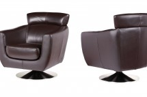 laurentina leisure chair black leather miotto