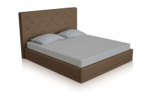 piana taupe leather bed T miottto design furniture