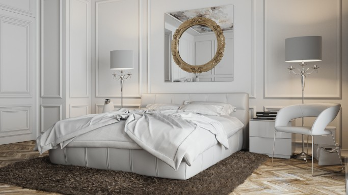 Modern bedroom with baroque touch miotto design